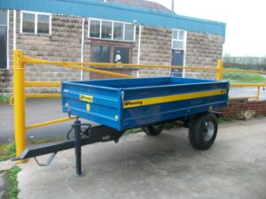 Fleming TR2 2 Ton Tipping Trailer with drop down sides Image
