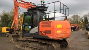 2014 Hitachi ZX130-5 LCN,Twin lock hydraulic quick hitch,Piped for hammer,Boom & Dipper C/V