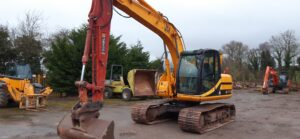2008 JCB JS130, Piped for hammer, Hydraulic quick hitch Image